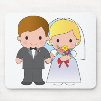 Bride and Groom Mouse Pads
