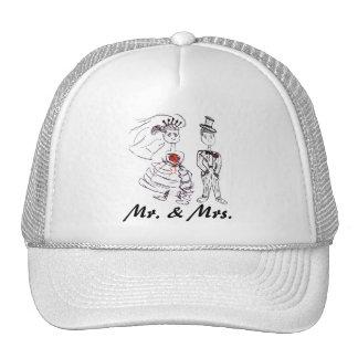 Bride and Groom/Mr. & Mrs. Cap