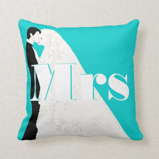 Bride and Groom Mrs Wedding Pillow