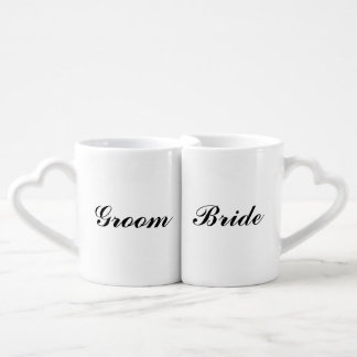 Bride And Groom Mustache Lips Mug Set