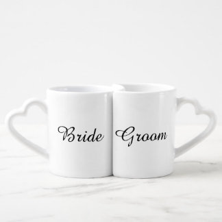 """Bride and Groom"" Nesting Mugs"