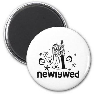 Bride and Groom Newlywed Magnet