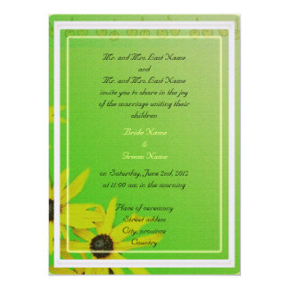 Bride and groom parents'  invitation, daisy personalized announcement