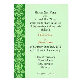 Bride and Groom parents, wedding invitation Invitations