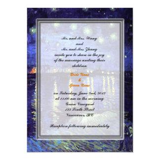 Bride and groom parents'  wedding invitation custom invitations
