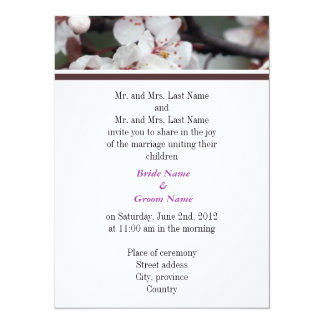 Bride and Groom parents, wedding invitation Invitation