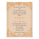 Bride and groom parents'  wedding invitation announcements