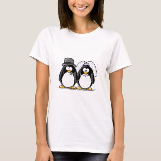 Bride and Groom Penguins T-Shirt