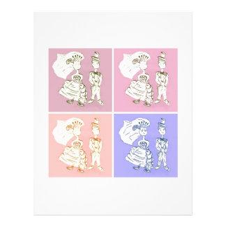 Bride and Groom Pop Art 21.5 Cm X 28 Cm Flyer