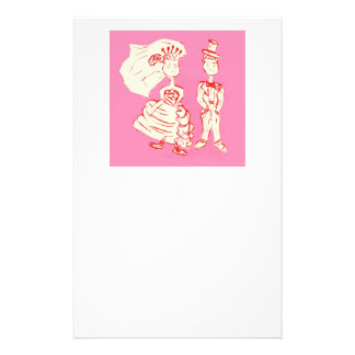 Bride and Groom Pop Art Custom Stationery