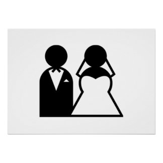 Bride and Groom Posters