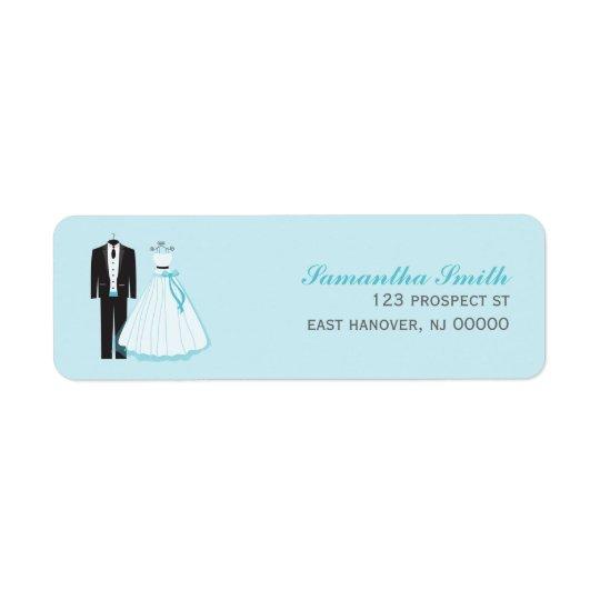 Bride and Groom Return Address Label