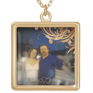 Bride and Groom Romantic Personalized Couple Photo Custom Jewelry