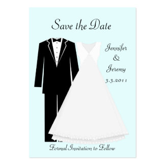 Bride and Groom Save the Date Pack Of Chubby Business Cards
