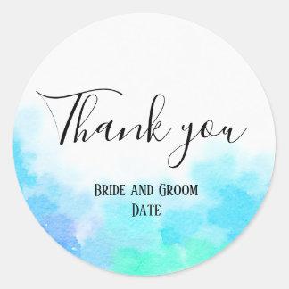Bride and Groom Thank you Wedding Sticker