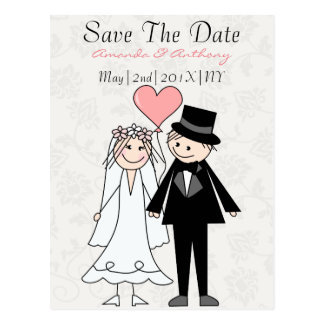 Bride and groom to be postcard