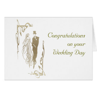 Bride and Groom Wedding & Anniversary Art Gifts Greeting Card