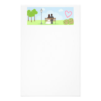 Bride and Groom Wedding Couple in Park Stationery