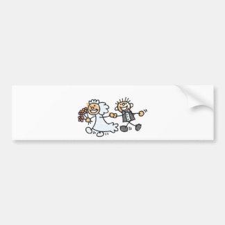 Bride And Groom Wedding Elope Elopement Bumper Sticker