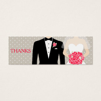 Bride and groom wedding free drink voucher card