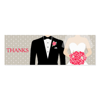 Bride and groom wedding free drink voucher card business cards