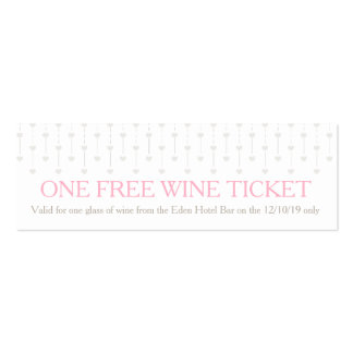 Bride and groom wedding free wine voucher card business card template