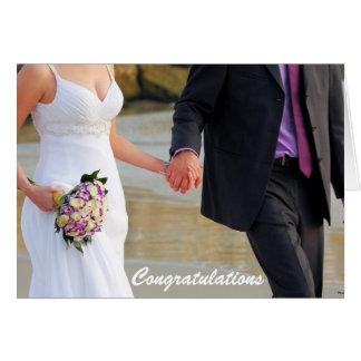 Bride and Groom Wedding Greeting Card