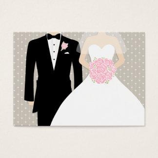 Bride and groom wedding info enclosure card