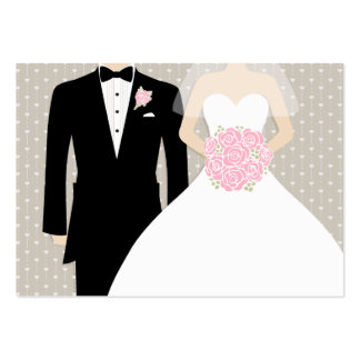 Bride and groom wedding info enclosure card business card