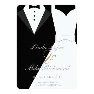 Bride and Groom Wedding Invitation Card