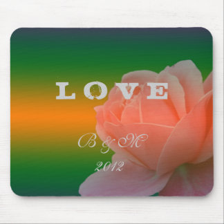 bride and groom wedding mouse pad,rose flower mouse pads
