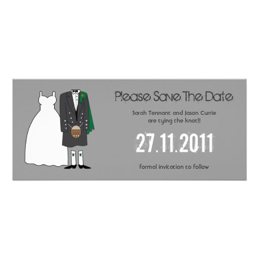 Bride and Groom Wedding Save the Date Personalized Announcements