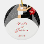 Bride and Groom's First Christmas Ornament