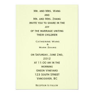 bride and groom's parents wedding invitation personalized invitation