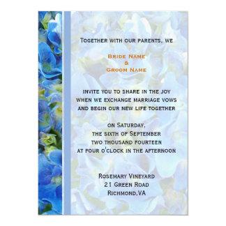 bride and groom's wedding invitation