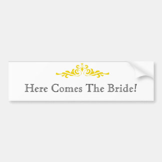 Bride Announcement Bumper Sticker