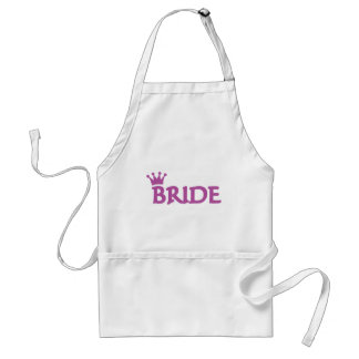 bride adult apron