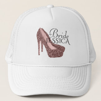 Bride Bachelorette Party | Glitter High Heels Trucker Hat