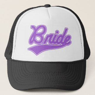 Bride (Baseball Script Purple) Trucker Hat