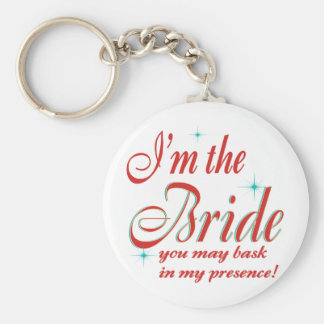 bride-bask in presence basic round button key ring