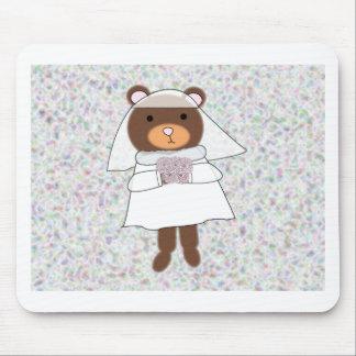 bride bear mouse pad