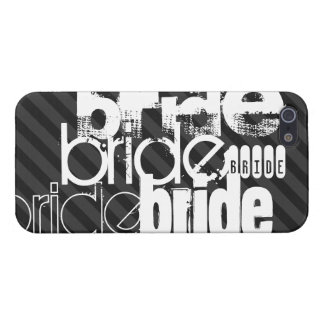 Bride; Black & Dark Gray Stripes iPhone 5 Cover