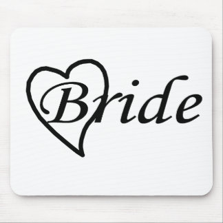 Bride Black Heart Mouse Pad