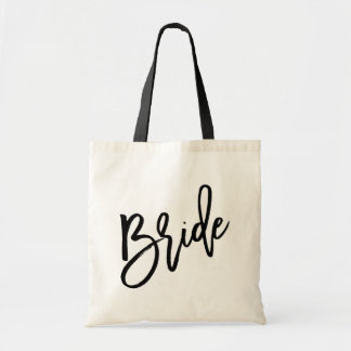 Bride Black Script Tote Bag