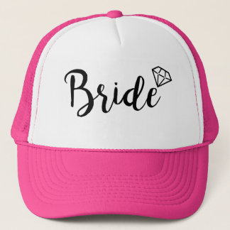 Bride Bling Diamond Trucker Hat