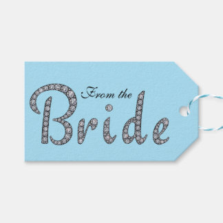 Bride bling gift tag