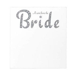 Bride bling notepad