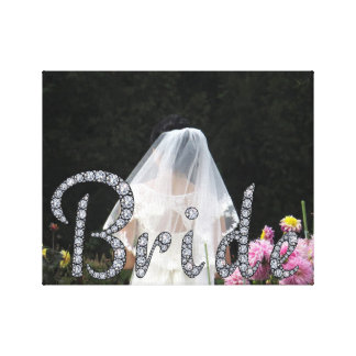 Bride bling photo wrapped canvas gallery wrap canvas