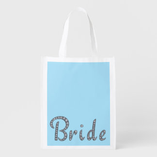 Bride bling reusable bag