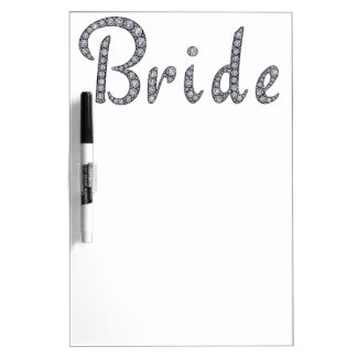 Bride bling whiteboard dry erase whiteboards